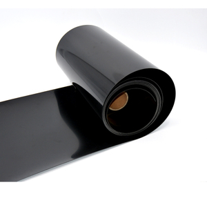0.3mm Black Color Vinyl Film Plastic Mirror Reflective Mylar Film PP Sheet In Roll