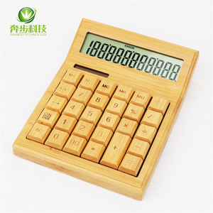 Factory price calculator 12 digits wholesale scientific calculator comfortable bamboo calculator