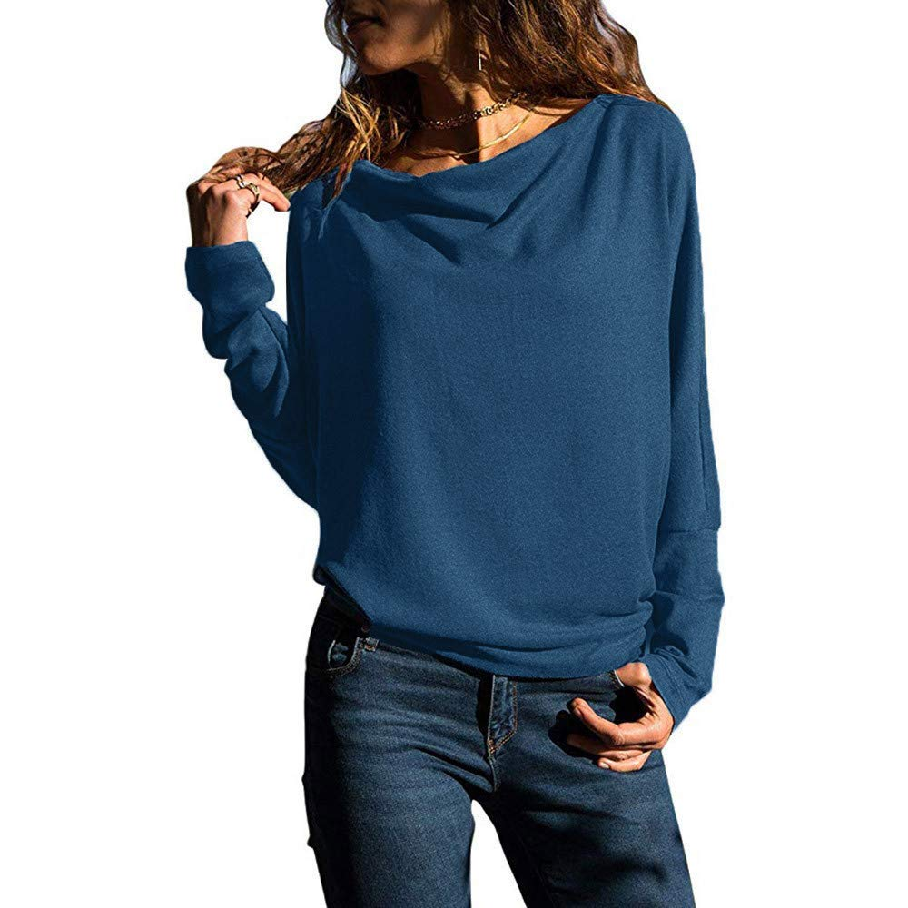 f27e0f0a078 Get Quotations · XUANOU Women's Casual Long Sleeve Sleeve Sweatshirts Loose  Fit Lace Blouses Long Sleeve Pullover Loose Top