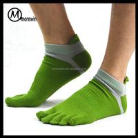Morewin brand Men Socks Mesh Sports Running Five Finger Toe Socks