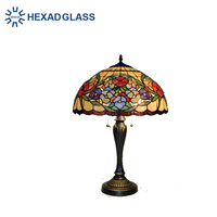 HEXAD Tiffany style stained glass table lamp HTL63