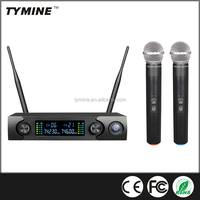 Tymine New UHF Dual channels Wireless Karaoke Microphone System TM-T10