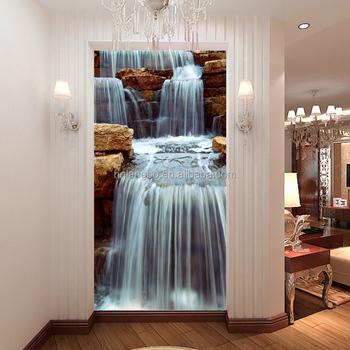 3d Natural Scenery Wallpaper Minimalist Modern Waterfall Wallpaper