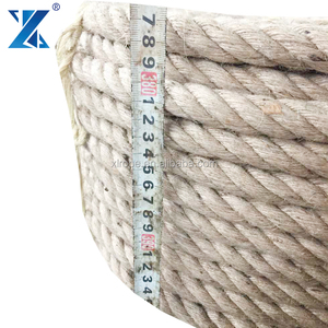 High strength 3 strand 4mm double braided jute rope