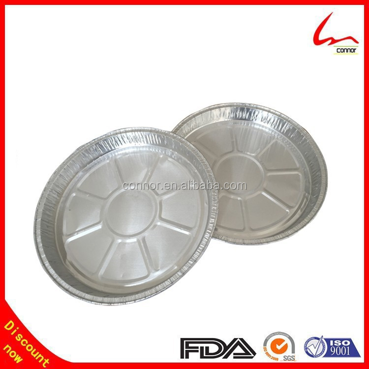 500ml Discount Disposable Round Flat Bottom Aluminum Foil Pizza Pan For Oven