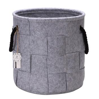 top sellers 2018 for amazon custom felt grey weaving home food laundry firewood garden storage bags containers baskets organizer