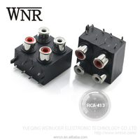 WNRE lotus 4 position waterproof RCA-413 seal RCA Pin Jack connector for TV&STB