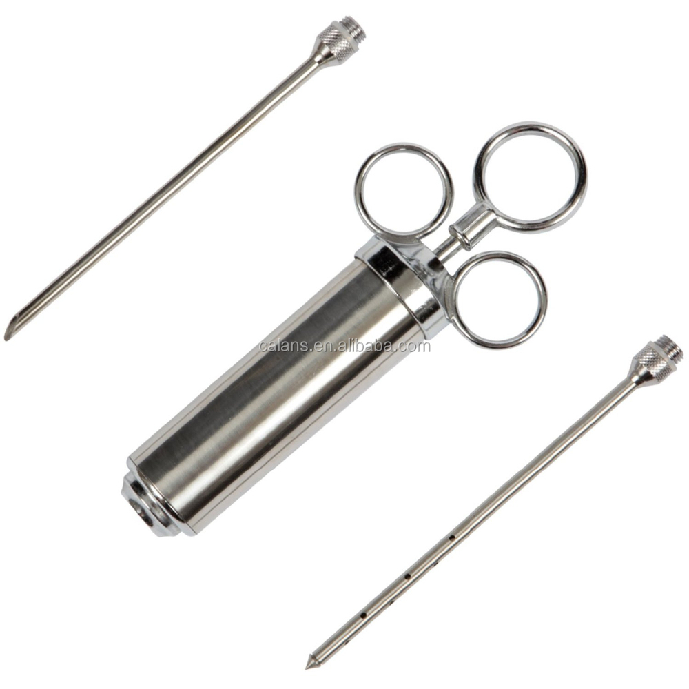 2 Ounce Stainless Steel Meat / Marinade Injector - Turn Bland Tasting Meat Into Mouth Watering Feasts