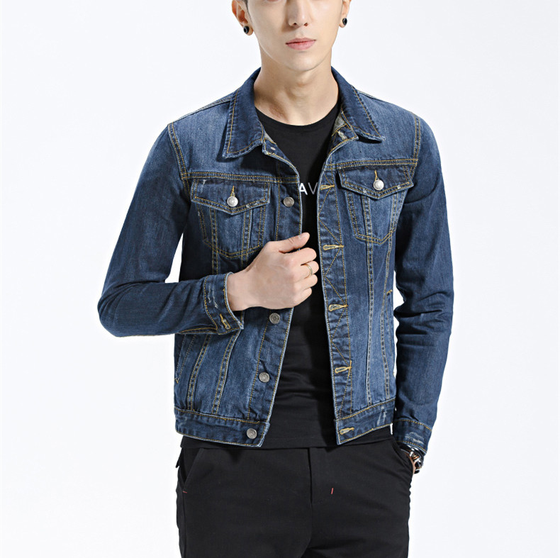 Oem Fashionable Blue Cotton Denim Jackets Custom Mens Street Denim Jean Outdoor Jackets