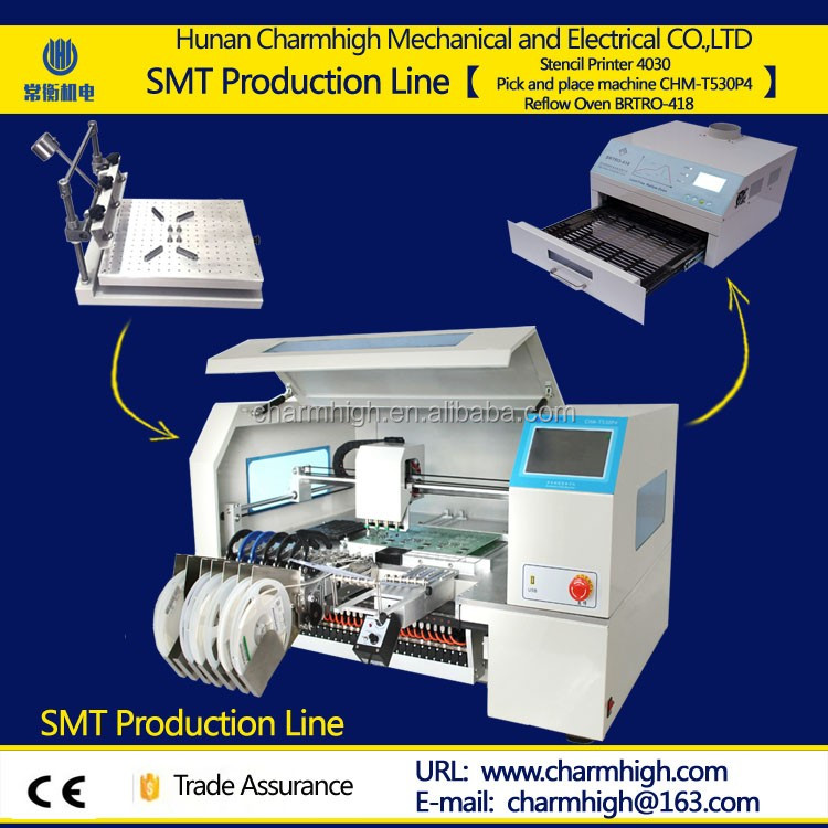 Hotsell SMT production line LED pick and place machine with 4 heads Yamaha pneumatic feeder SMD Led Mounting