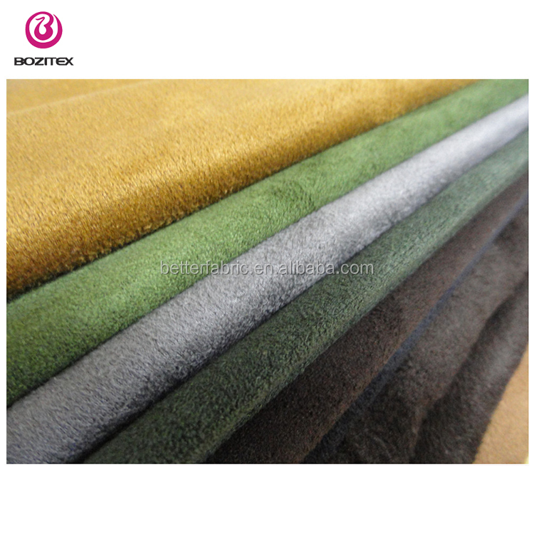 2018 Wujiang Wholesale Stretch Suede textile material