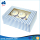 Selling cheap cardboard ice cream cake box with clear pvc window