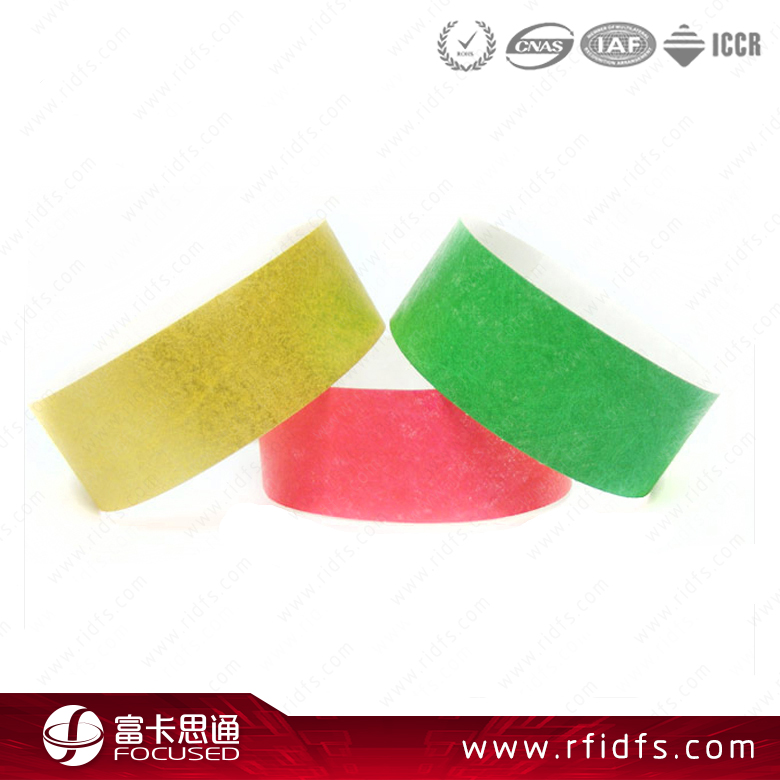 one time use disposable paper custom rfid wristband
