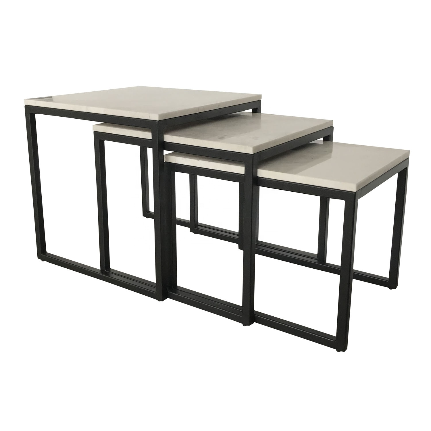 Picture of: Black Iron Base Marble Top Nest Side Table Buy Marble Nest Table Marble Top Side Table Marble Top Table Product On Alibaba Com