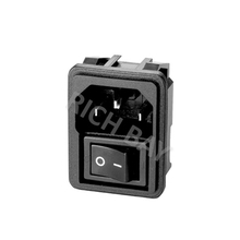 IEC C14+Switch/R-301SN-61 ac plug power socket outlet