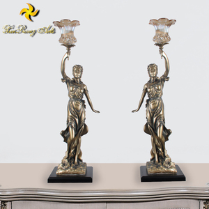 Antique arts decor lady Justice resin goddess statues lamp