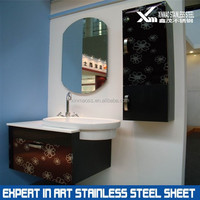 pattern stainless steel decorative cladding sheets for bathroom closet