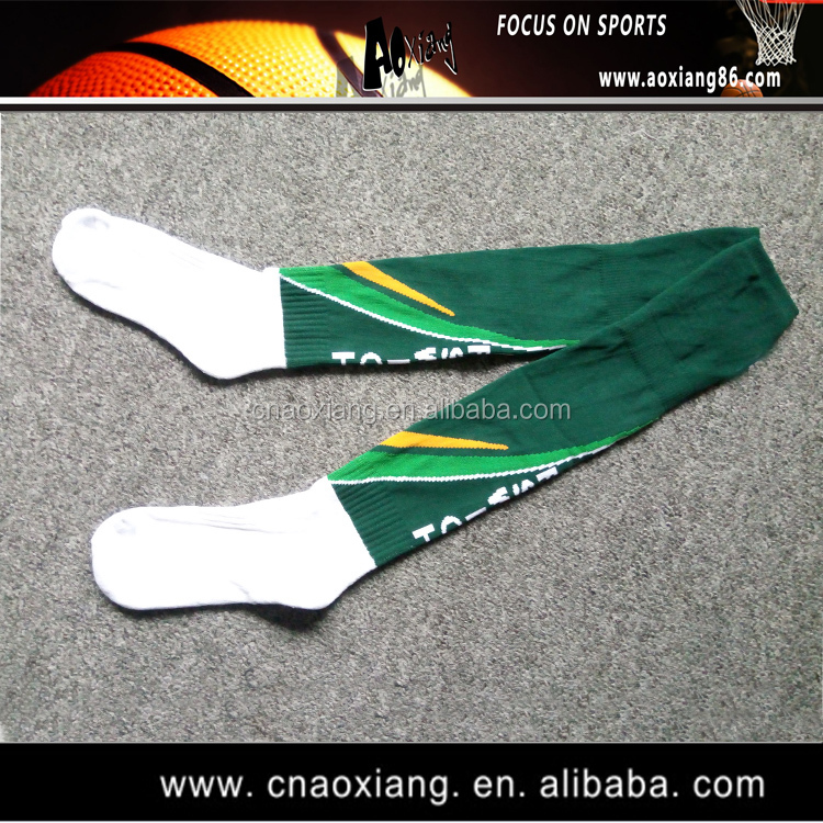 classic style lace up in great prices Custom Unisex Green And White Football Socks High Knee Funny Long Soccer  Socks - Buy Striped Knee High Socks White,Funny Long Football Socks,Fuzzy  ...