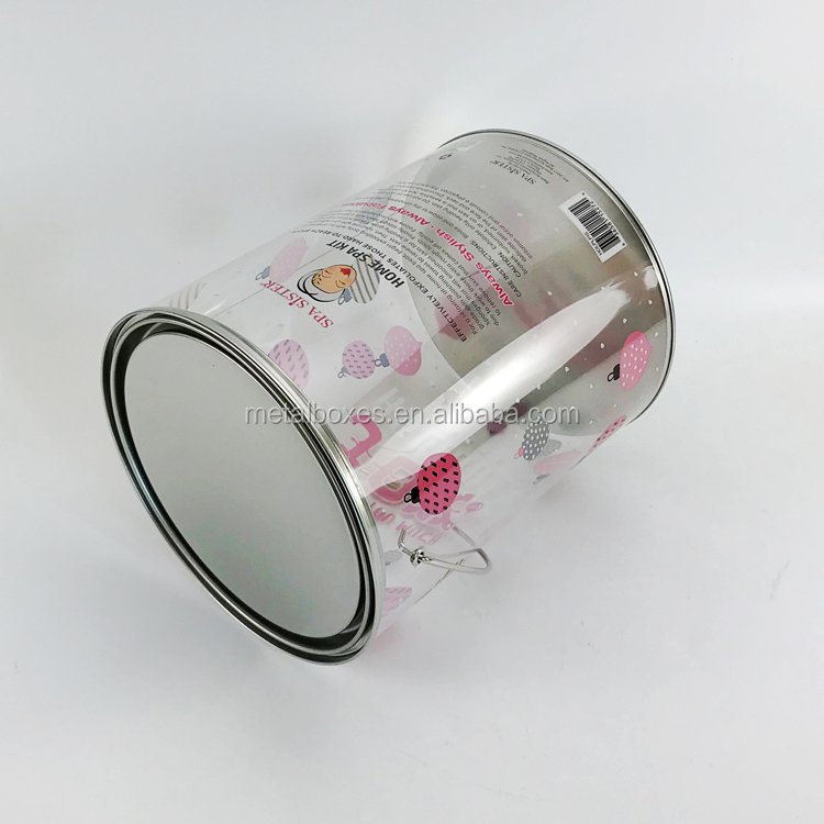 Hotcakes Eco-friendly Round Candy Tin Gift Packing Pvc Bucket