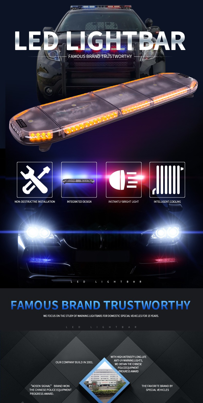 LED Light bar,Amber Led Light bars Used Emergency Vehicle Bar Lights