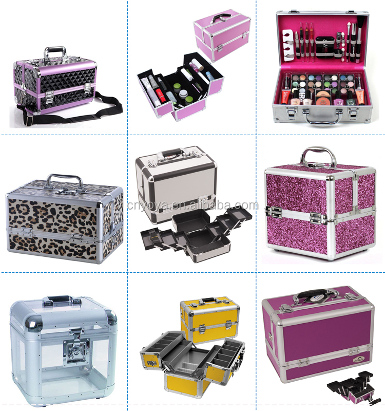 2 Wheels Mini Rolling Makeup Case Cosmetic Train Case With