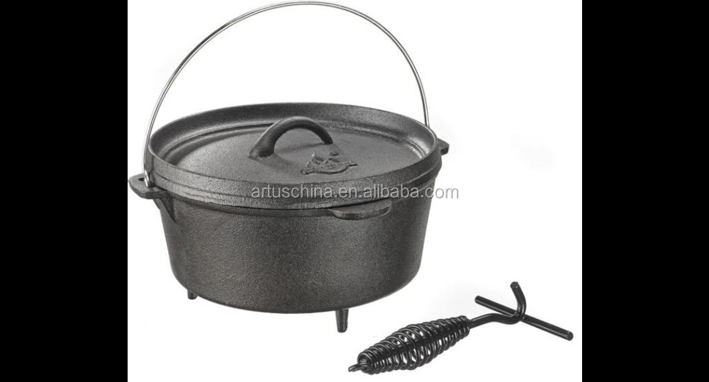 Gran barbacoa hierro fundido del horno holand s acampar - Barbacoa hierro fundido ...