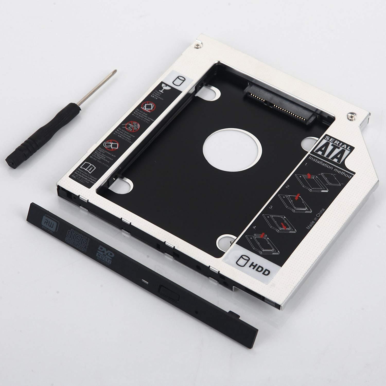 DY-tech 2nd HDD SSD SATA Hard Drive Caddy for HP Pavilion 15-p053eu 17-f001dx 15-AB292NR