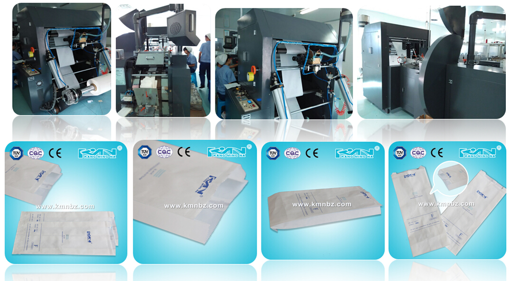 Industry Sterilization Gusseted Pouch Paper Bags