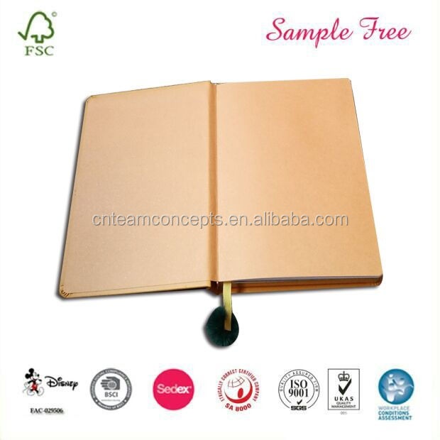 Factory Price Leather Cover Notebook with A4 A5 A6 Size from Dongguan