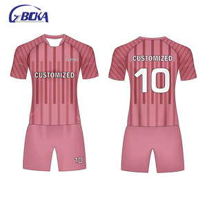New 2018 personalized custom pink jerseys t-shirt soccer uniforms
