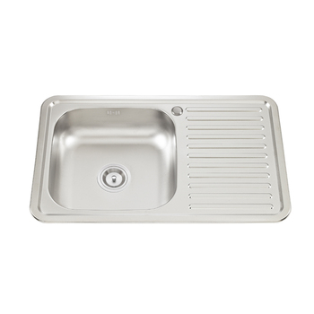 Single Bowl With Drainboard Kitchen Sink - Buy Deep Single Bowl Kitchen  Sink,Single Bowl Stainless Steel Sink With Drainboard,Single Bowl With  Drain ...