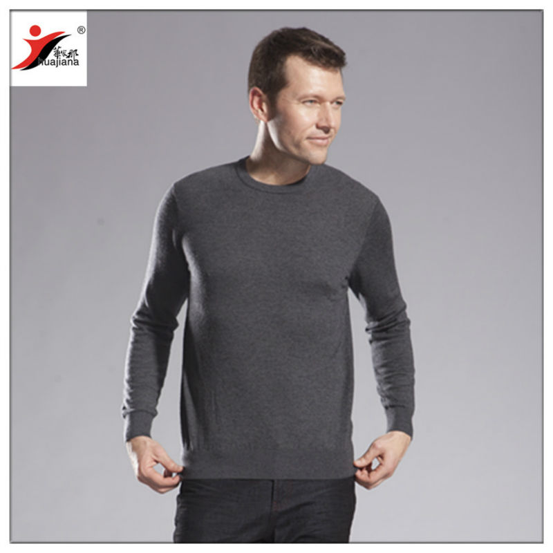 2013 fashion man sweater round neck /Best quality cashmere yarn 48/2 knits