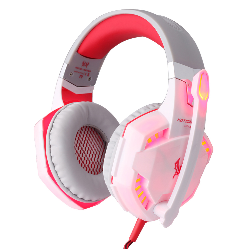 50mm Big Speaker game headset kb with light