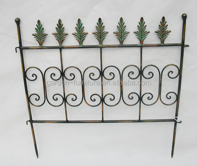 Garden Outdoor Supplies Lawn Fleur-de-lis Decorative Iron Fence ...