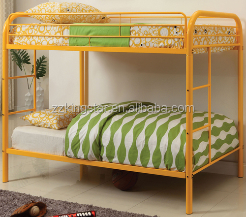 Used metal frame bunk beds single double metal bed