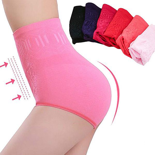 Seamless Women Fashion High Waist Slimming Belly Control Panties Postnatal Body