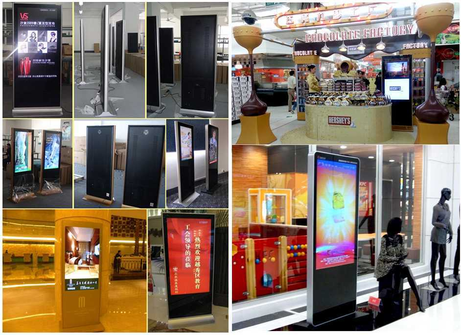 More Size Free Standing 46 Inch Lcd Advertising Display Network ...