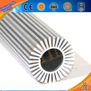 Hot! Good selling sliver anodized heat sink tubes/ different aluminum heating element with round aluminum heat sink tubing