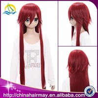 On Sale New Wholesale Japanese Long Red Cosplay Wig
