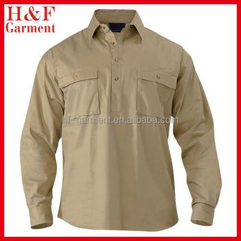 841f03f4 Mens Custom Button Up Work Shirts Made Of Cotton Twill - Buy Custom ...