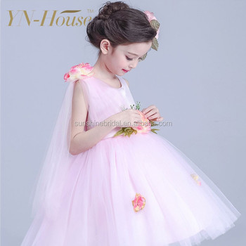 Pink Children Flower Girl Dress Of 9 Years Old Baby Wedding Wholesale Factory