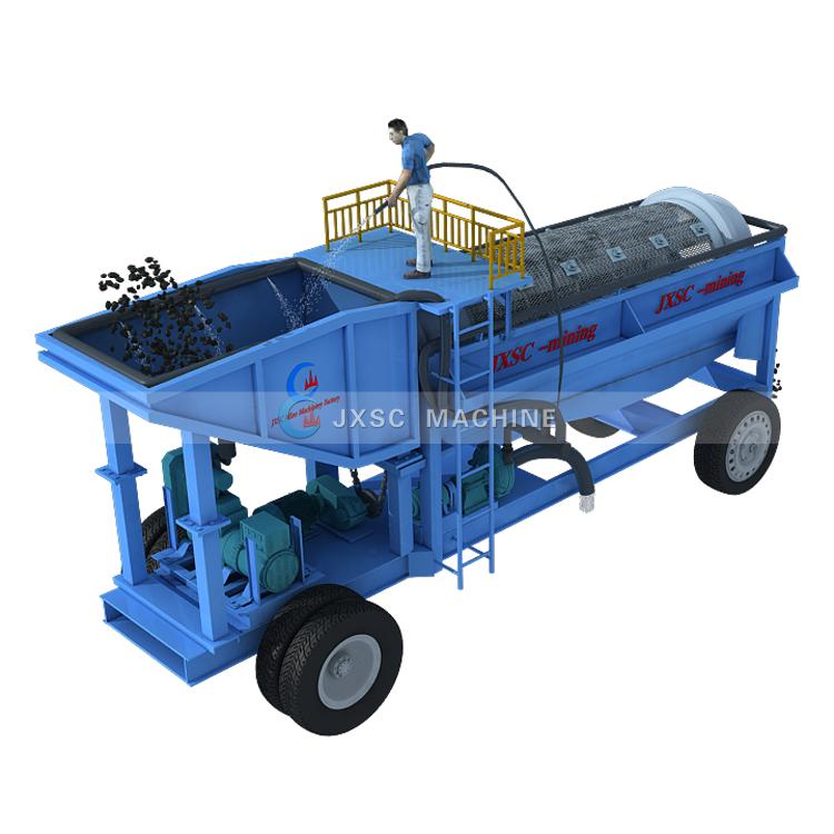 फैक्टरी मूल्य सोने धुलाई संयंत्र खनिज मशीनरी बिक्री के लिए कुशल Trommel स्क्रीन उच्च क्षमता गोल्ड Trommel