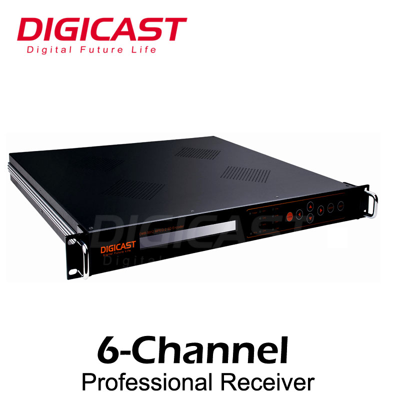 Encrypted TV 12 Channel Receiver with Tuner ASI and GigE IP for PID re mapping PCR Correction PSI SI edit