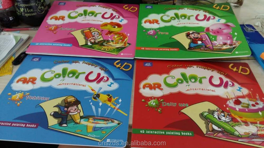 Envo libre 4D libros de dibujo pintura libro 4 Libros de Realidad