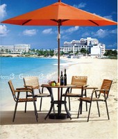 the plastic wood table patio furniture with umbrella for beach