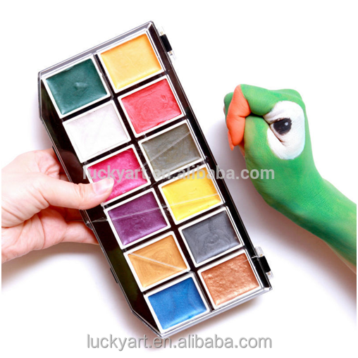 Beautiful pigment fluorescent multi-color Body Paint and portability easy used Face Paint