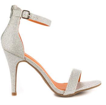 Simple Silver Heels - Red Heels Vip