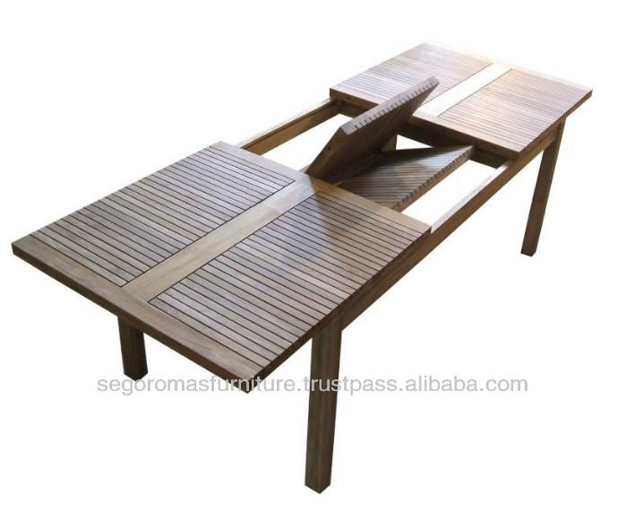 Novo design exterior extens o mesa de jantar dobr vel de - Mesas de teca exterior ...