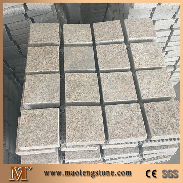 Flamed surface cutting sides granite g682 golden sand stone paving 10x10