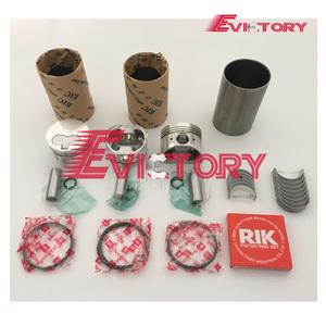 For Yanmar 3TNE74 3D74 3D74E piston + ring cylinder liner full gasket kit  crankshaft con rod bearing